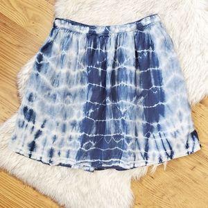 Madewell Shibori Linen Blue Tie Dyed Skirt 10